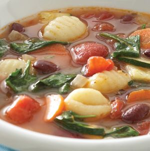 Got any zucchini left from this summer's harvest? Make Spinach-Gnocchi Minestrone! This soup is a fabulous way to sneak an extra serving of veggies into the kids. And it's ready in under 30 minutes.
