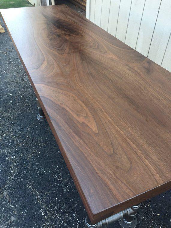Black Walnut Slab Countertop Butcher Block Tabletop Only Etsy In