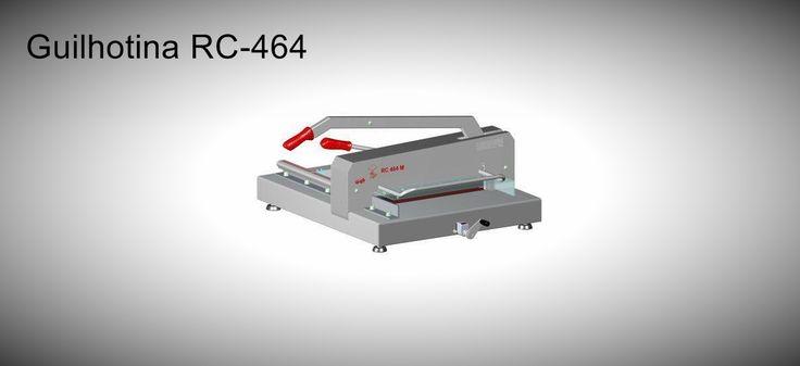 Guilhotina RC-464 Esta máquina pode cortar tamanho como C2, C3 e SRA3.  http://www.amakpost.com/guilhotinas.html?from=pinterest