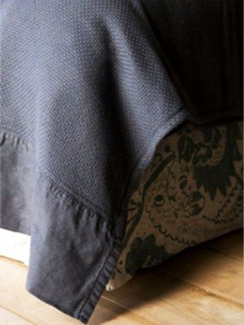 Mungo Cotton Interlace Charcoal Bed Throw - https://www.rubyroadafrica.com/shop-online/gifts-for-home-and-garden/buy-luxury-gifts-for-the-home/mungo-cotton-interlace-charcoal-bed-throw-gift-detail
