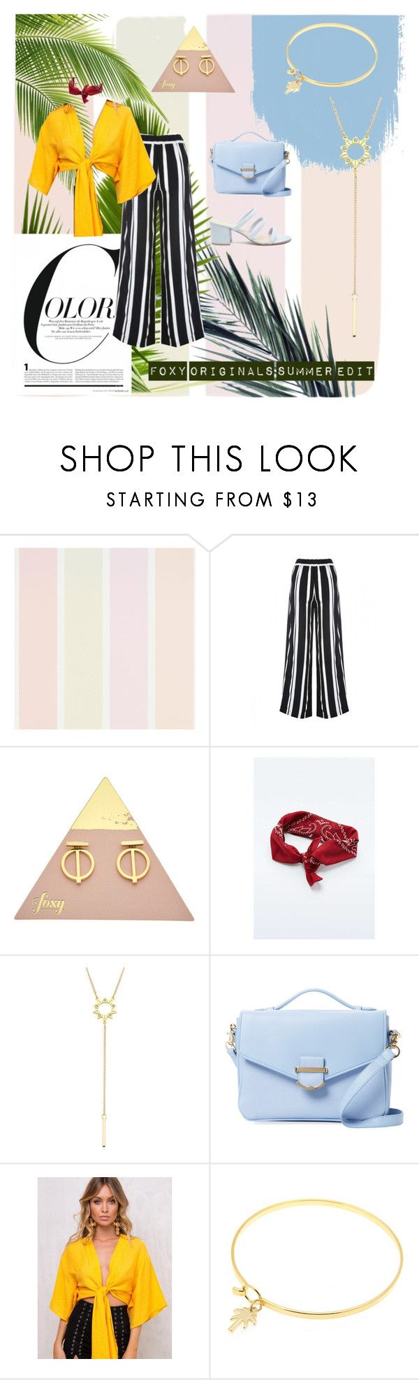 """Foxy Originals Summer Looks"" by foxyoriginal on Polyvore featuring Cynthia Rowley, Forever 21, jewelry, colorful, foxyoriginals and summer2017"