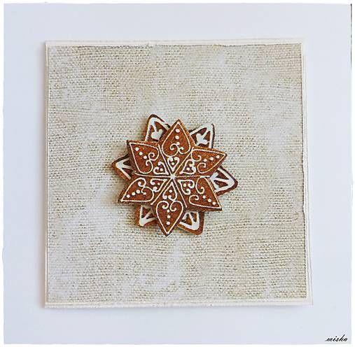 misha_cards / ❄Vianočná pohľadnica s medovníčkom❄