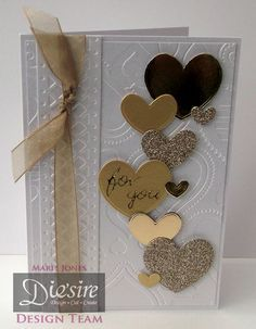 6 x 4 card using Crafter's Companion Gemini starter kit. Designed by Marie Jones #crafterscompanion