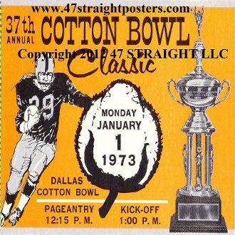 1973 Cotton Bowl ticket coasters-Texas vs. Alabama. $22.49 for a set of four ceramic coasters.