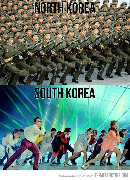 North Korea vs. South Korea…