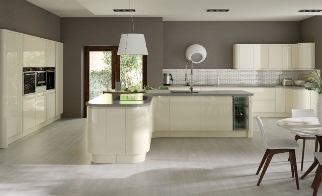 Strada Ivory Handleless Kitchen by Kitchen Stori