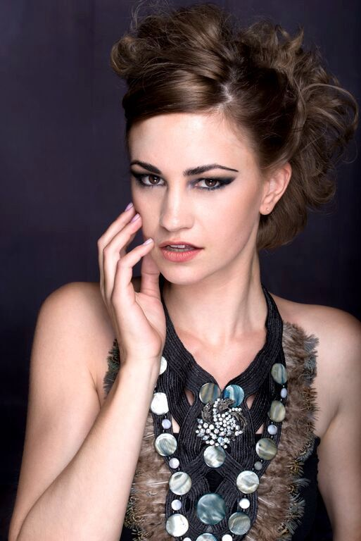 Feather Statement Necklace Large Dramatic Neck by Marelle @HopscotchCouture