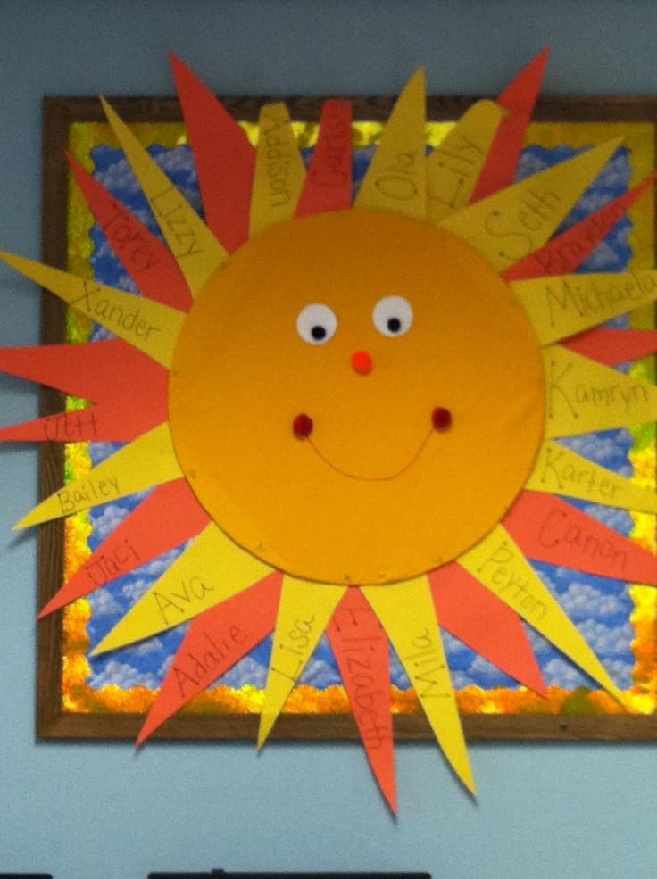 Sun bulletin board