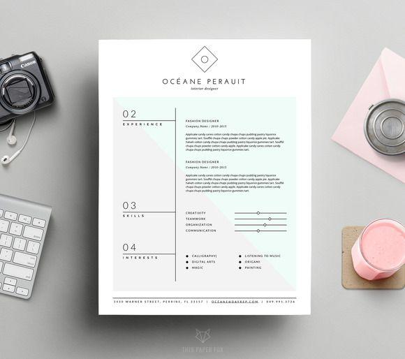 Cool Resumes: Fresh, minimalistic design.                                                                                                                                                     More