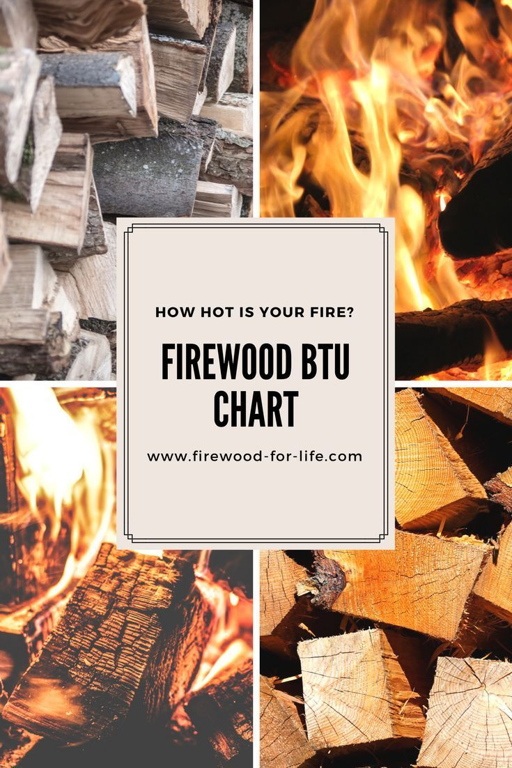 How Much Heat Is Your Firewood Going To Provide This Firewood Btu Chart Will Show You All The Best Firewood To Bu Firewood Stacking Firewood Off Grid Living