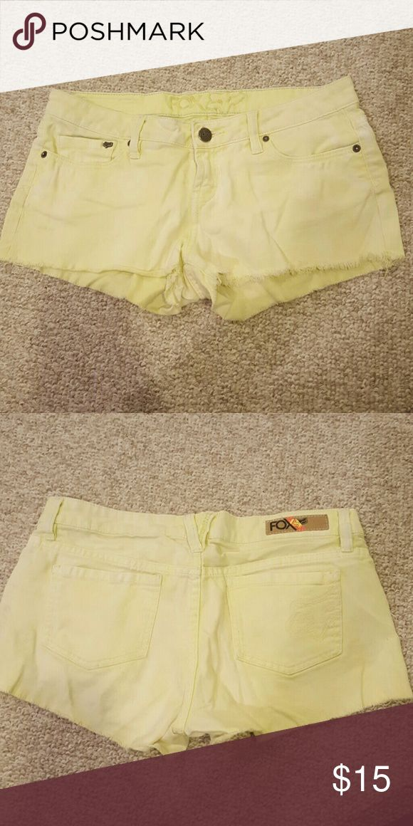 Lime green Fox shorts Pastel lime green shorts from Fox Fox Shorts
