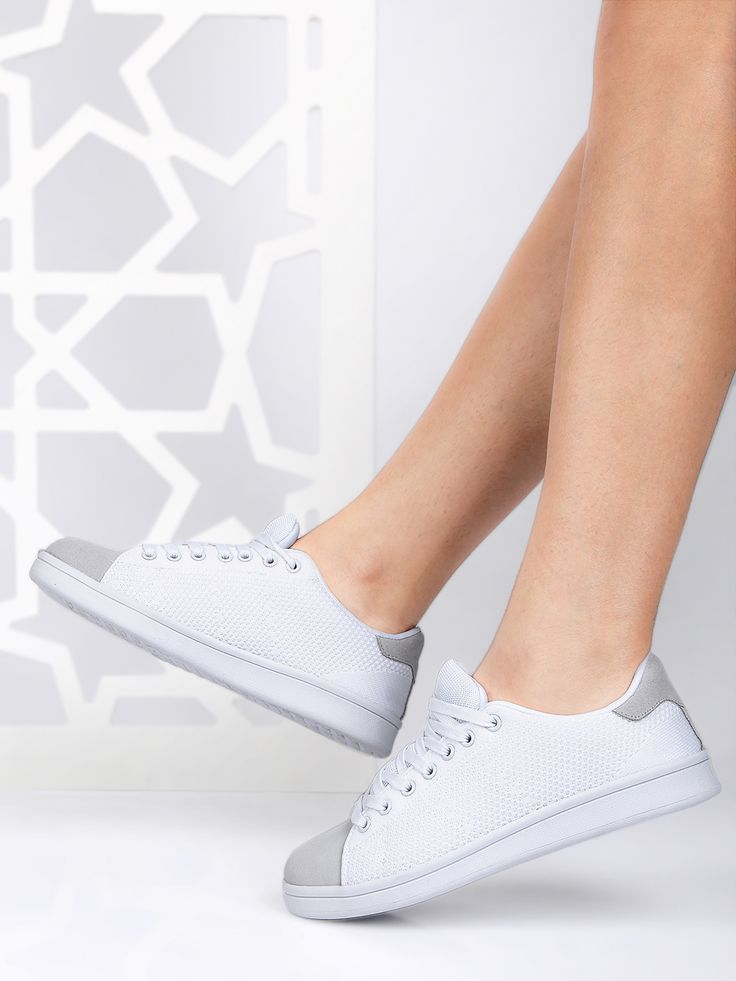 ether Women White Sneakers #White#Synthetic#laceup#Casual