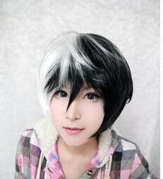 Дамы мужские человек Костюм Жасмин принцесса Короткие Черный белый Смешанная Многоуровневая Косплей Парик из жаропрочного синтетического волокна Волос парики