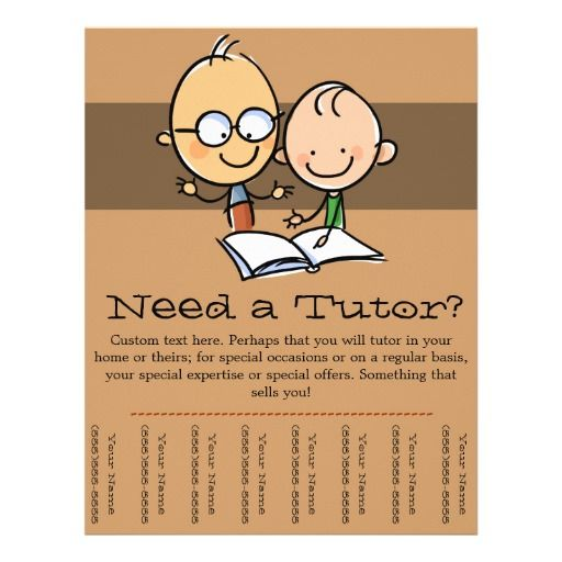 Best Tutoring Pamphlets Images On   Flyers