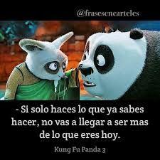 Resultado de imagen para kung fu panda frases de la pelicula