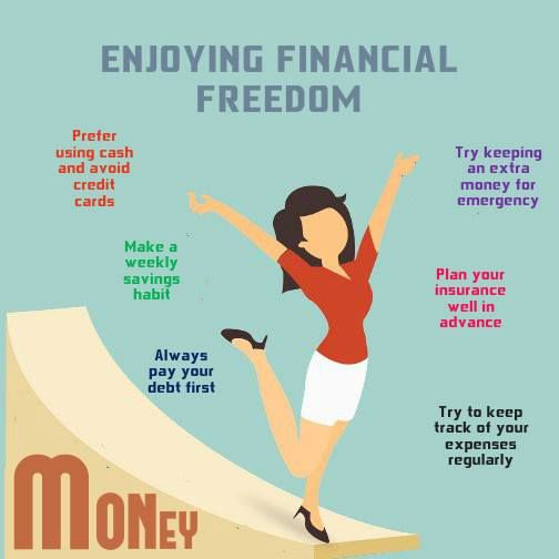 Few Simple steps which can helps you enjoy better #financial freedom