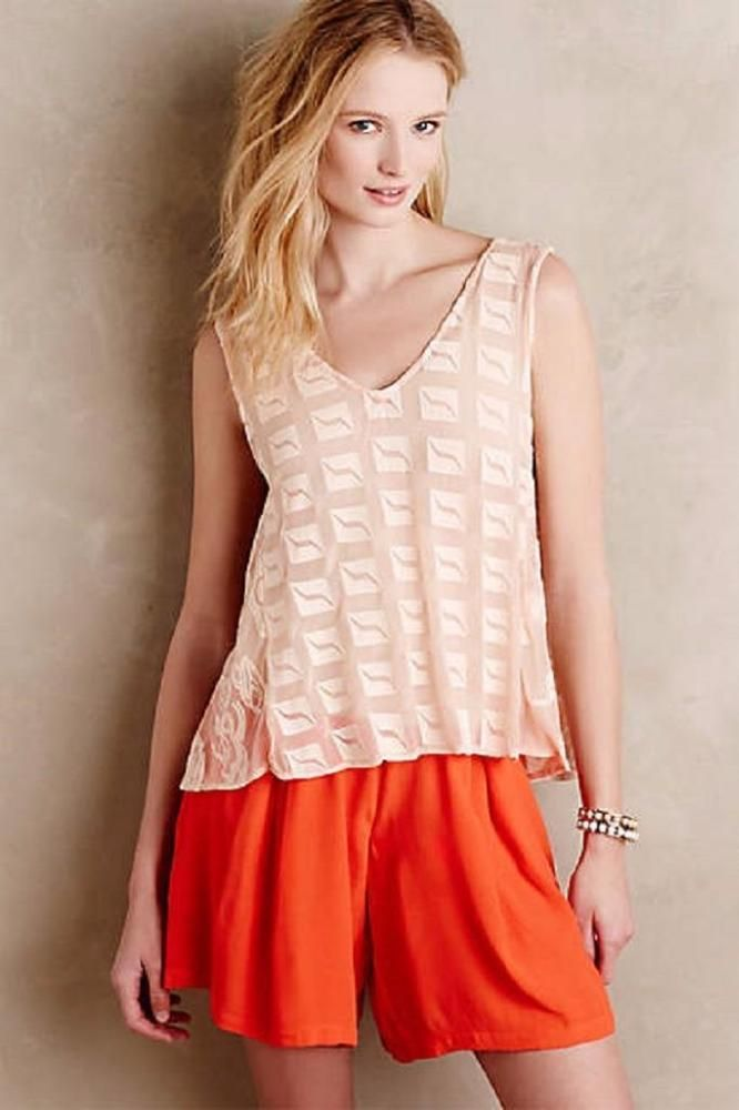 NEW ANTHROPOLOGIE $178 Arama Tank Plenty Pink Womens Top Cami Cotton Spandex NWT #plentybyTracyReese #TankCami #Casual