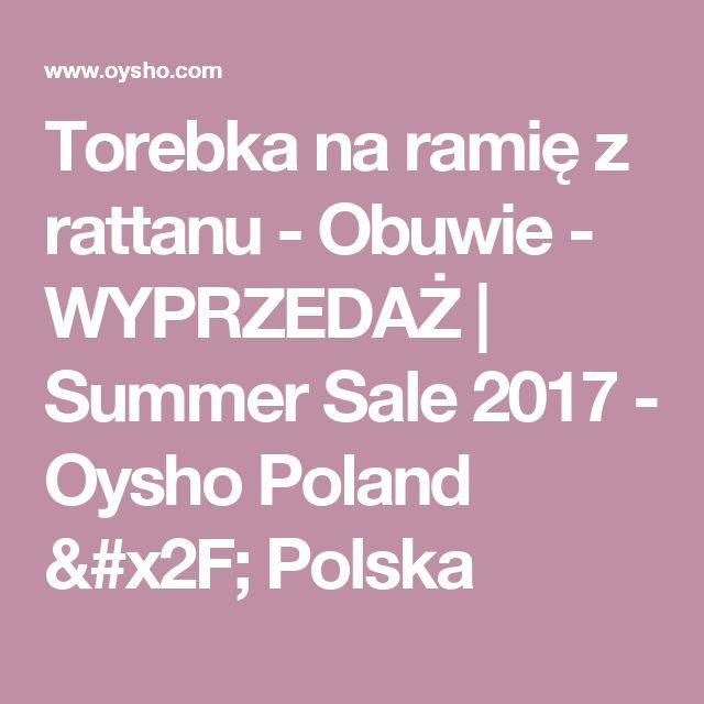 Torebka na ramię z rattanu - Obuwie - WYPRZEDAŻ | Summer Sale 2017 - Oysho Poland / Polska