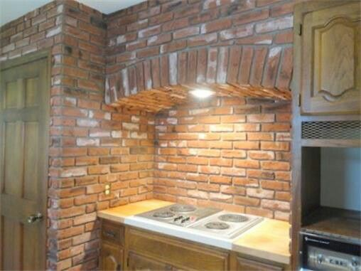 Cozy Brick Arch Over Stove Kitchen Exhaust Vent Hood I