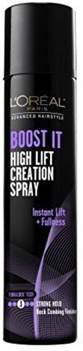 L'Oreal Advanced Hairstyle Boost It High Lift Creation Spray Strong Hold 5.30 oz (Pack of 2)