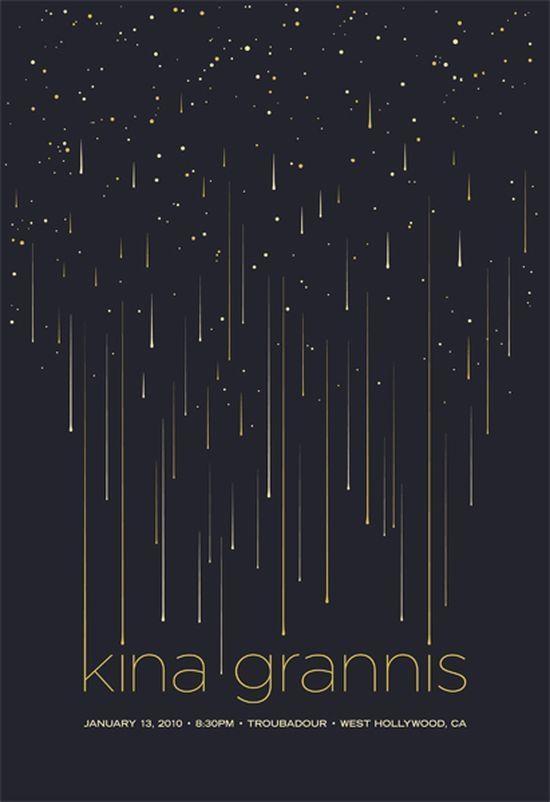 Kina Grannis event #poster design inspiration
