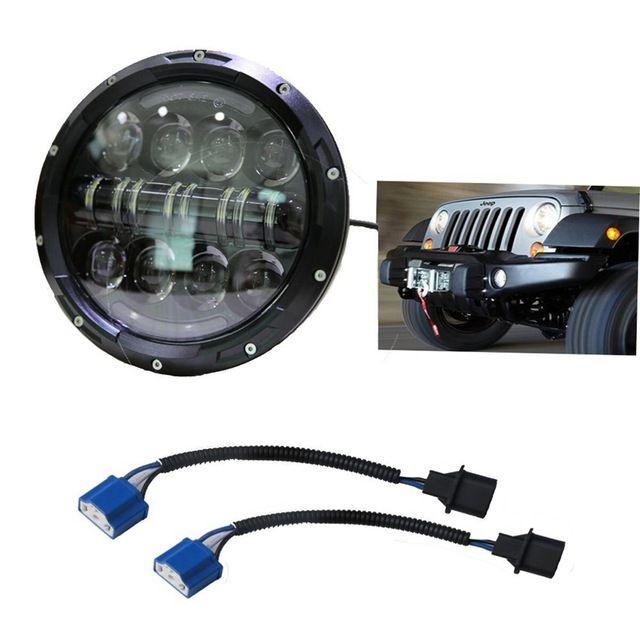 80W Jeeps Headlamp 7 Inchs Jeeps Wrangler Led Headlight with DRL for Wrangler Jk Tj Fj Cruiser Trucks Off Road Lights ** For more information, visit image link. #CarLights