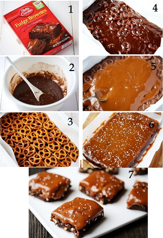 Salted Pretzel Caramel Brownies copia