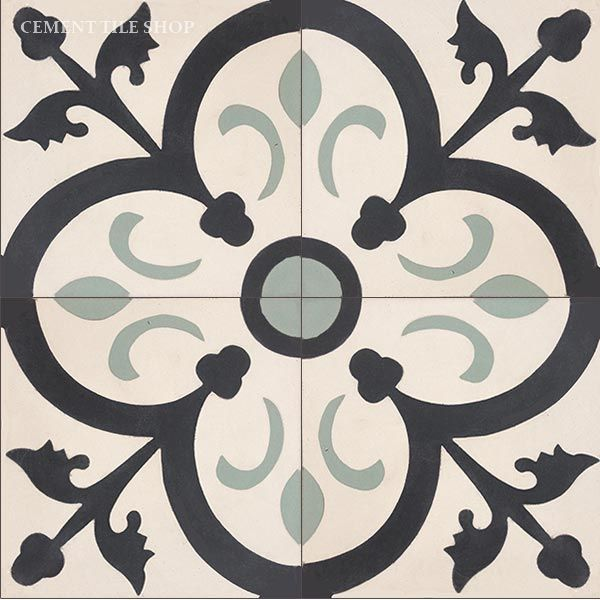 Cement Tile Shop - Encaustic Cement Tile Orleans Sage