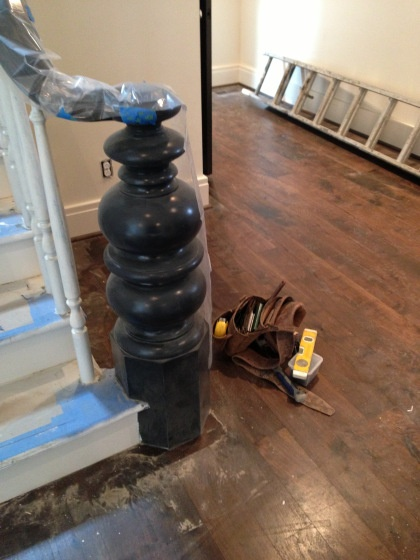Best Under Construction House Stairs Newel Posts Stairway 400 x 300