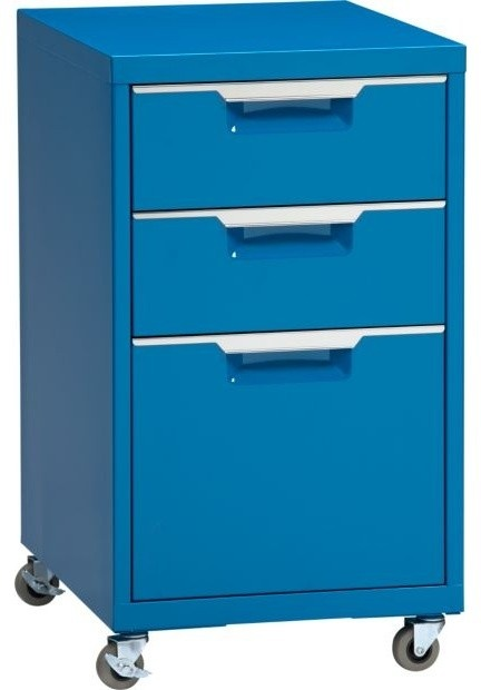 One can of metal spraypaint and voila!  A bright filing cabinet at a cheap price!