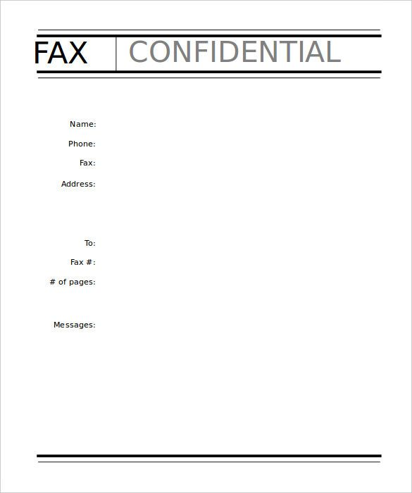free printable fax cover sheet template pdf word in 2020