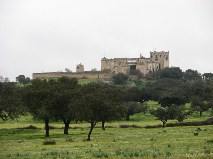 Castillo de Piedrabuena, de propiedad privada, situado a pocos kilómetros al norte de Alburquerque, posee un entorno de dehesa de alcornoques maravilloso.