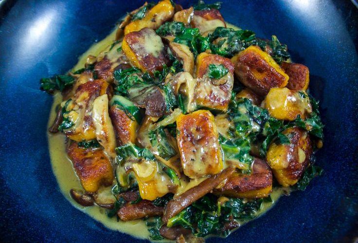 Gnocchi maison de carottes, Shitake & Kale à la crème/Recettes gourmandes/Émilie Gauthier/Blogue Lifestyle/Mes petites Révolutions