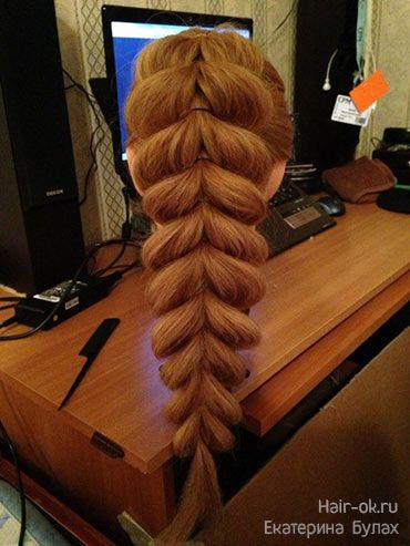 no braiding braid, long hairstyle tutorial, step by step pictures