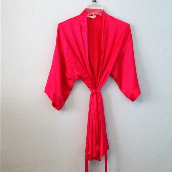 Victorias Secret Silk Robe Pink Silk Robe from Victorias Secret. Victoria's Secret Intimates & Sleepwear Robes