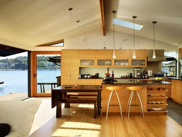 4 modern houseboat designs houseboats design and interior design. Black Bedroom Furniture Sets. Home Design Ideas