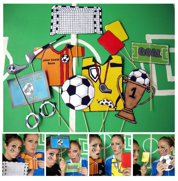 soccer photo booth props  personalized with you team colors and name on the jersey thepartyevent, $14.99