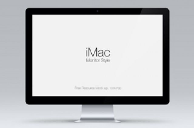 A useful scalable psd cinema display monitor vector mockup to showcase any designs with style. Drag and drop any graphics on...