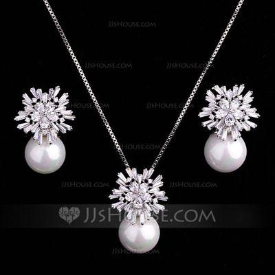 [€ 41.18] Elegante Aleación/Perla/Circón Señoras' Sistemas de la joyería (011062966)