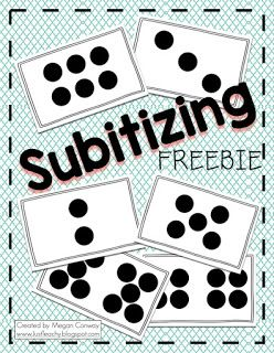 Ready for a FREEBIE!?!     Here is a set of subtilizing cards I made to use whole group with my class.  These cards have different dot repr...