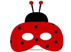 Maschere Carnevale per bambini - Coccinella