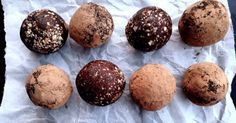 Raw Cacao Bliss Balls with Chili, Peppermint and Liquorice
