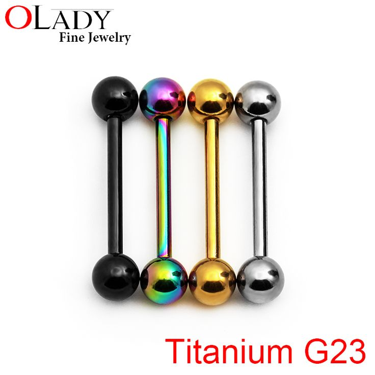 Tongue Rings Balls 14G [100% Titanium G23]  Piercing Body Jewelry Nipple piercing