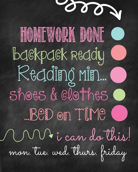 Back to School : Dry Erase Chore Charts. Get the free printable at the36thavenue.com Love these #pinoftheday #backtoschool