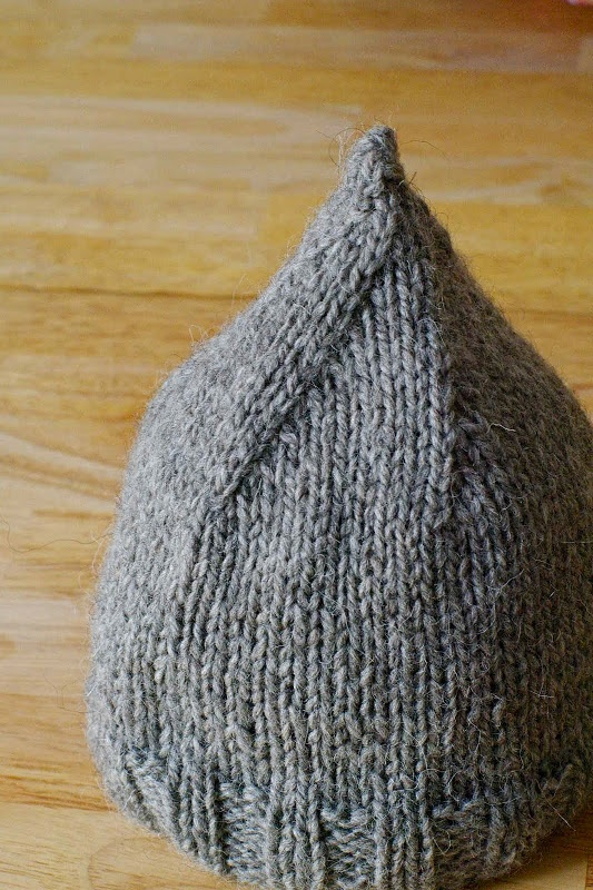 "in rerum natura: Small cap impromptu (or interest to know knitting--can make a tag that says ""Hersey Kisses"" and sew onto the top"