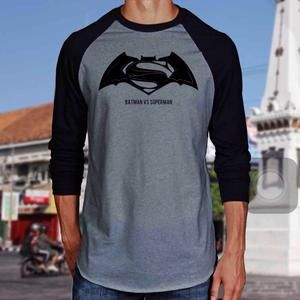 Kaos Raglan 3/4 Batman Vs Superman 01