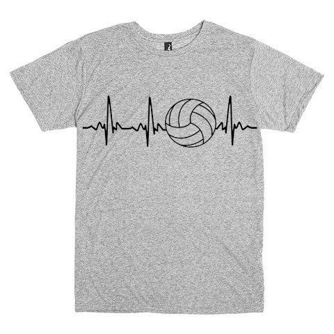 Pulse Of Volleyball Heartbeat T Shirt Custom By Tshirtsmade4you