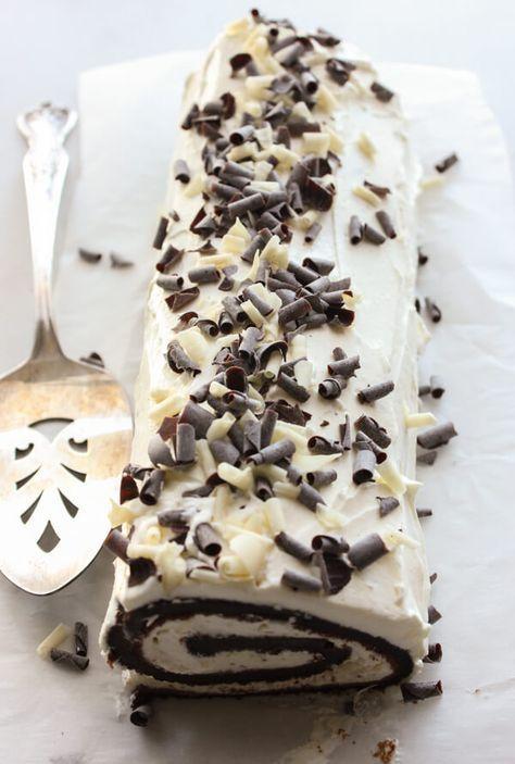 Chocolate Tiramisu Cake Roll