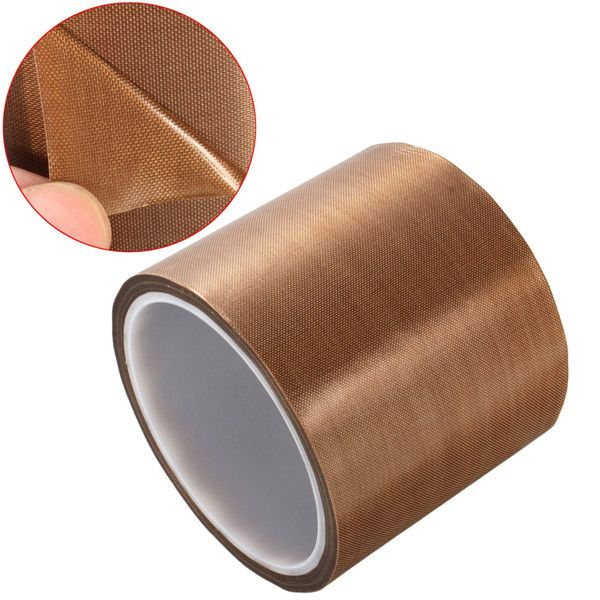 80mmx10m Adhesive PTFE Tape Heat Resistant High Temperature Insulation Tape