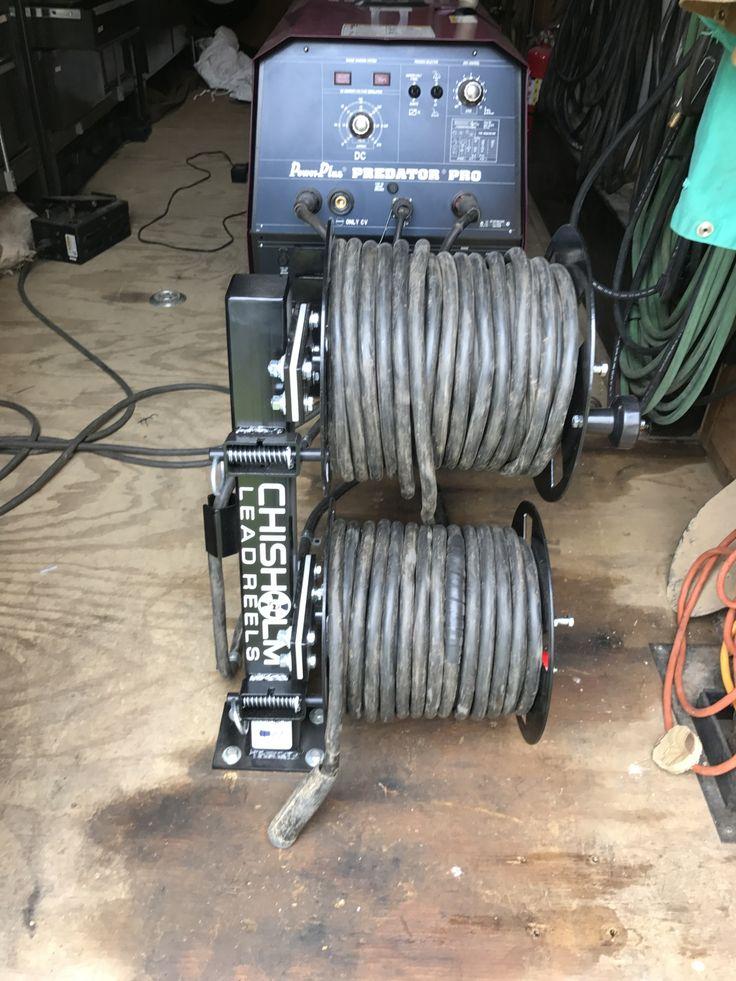 Chisholm Welding Lead Reel - Fixed Base Double Reel FBD10BLK